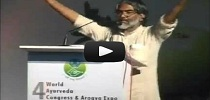 Vote of thanks for the 4th World Ayurveda Congress - By Shri A.Jayakumar, Secretary General, Vijnana Bharati